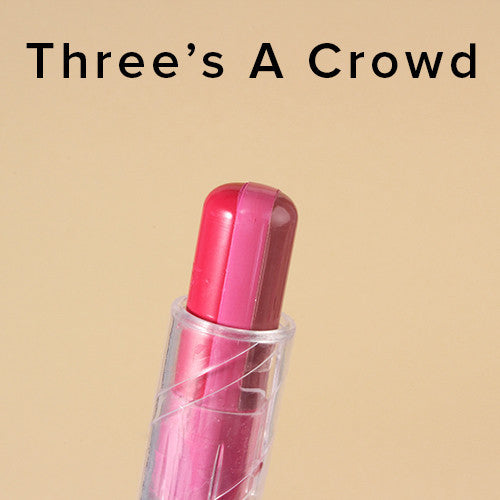 L.A. Colors - 3 Color Lipstick- Three's A Crowd