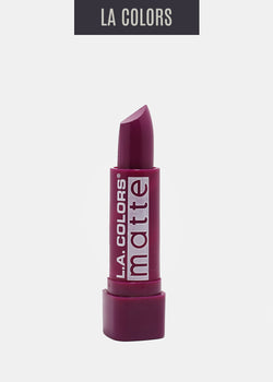 L.A. Colors- Matte Lipstick- Stay Put Plum