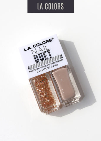 L.A. Colors- Nail Duet Polish- PB&J