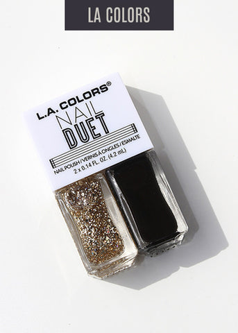 L.A. Colors- Nail Duet Polish- Yin & Yang
