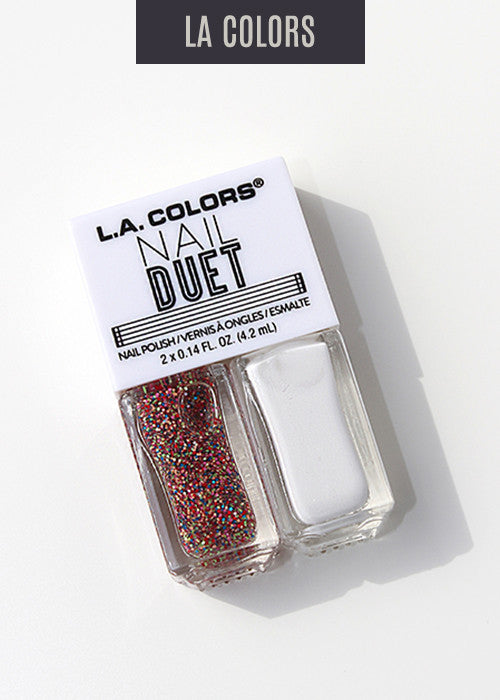 L.A. Colors- Nail Duet Polish- Love & Hate
