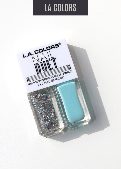 L.A. Colors- Nail Duet Polish- Peace & Quiet