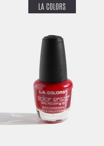 L.A. Colors - Color Craze Nail Polish - Hot Blooded