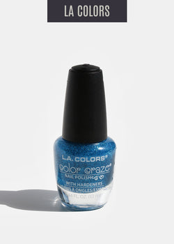 L.A. Colors - Color Craze Nail Polish - Aqua Crystals
