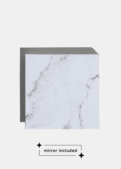 a2o Lab Empty Magnetic Palette - Small White Marble