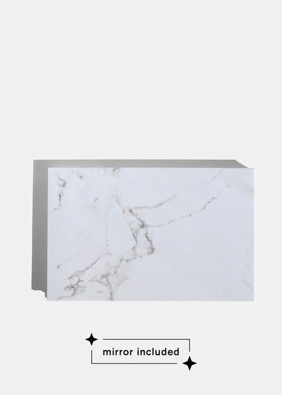 a2o Lab Empty Magnetic Palette - Large White Marble