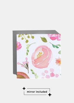 a2o Lab Empty Magnetic Palette - Small Watercolor Floral