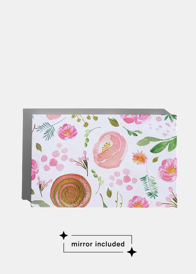 a2o Lab Empty Magnetic Palette - Large Watercolor Floral