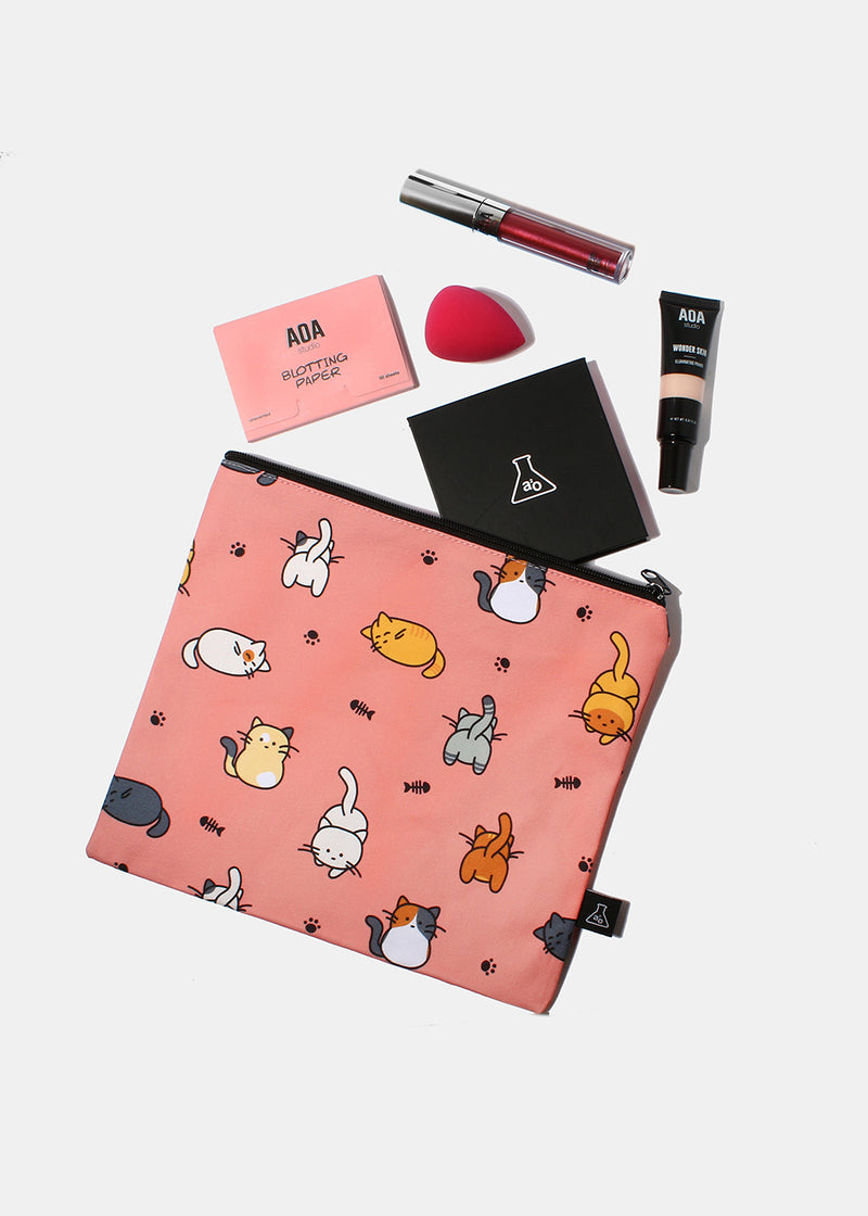 a2o Large Canvas Pouch - Cats