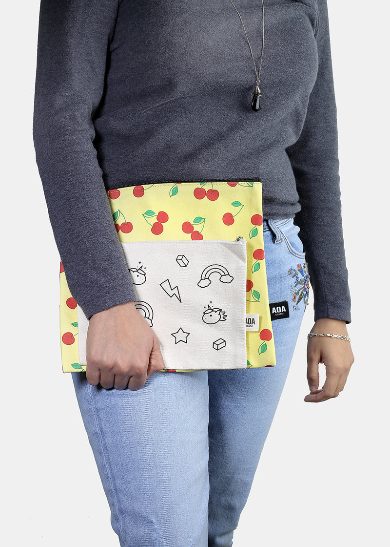 a2o Large Canvas Pouch - Red Cherry
