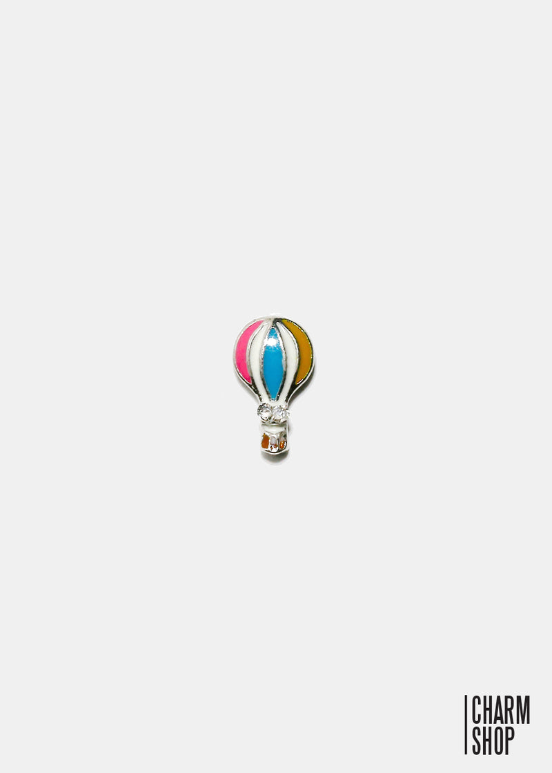 Pastel Hot-Air Balloon Locket Charm