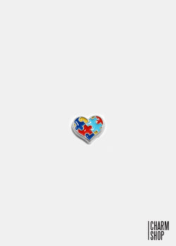 Autism Heart Locket Charm