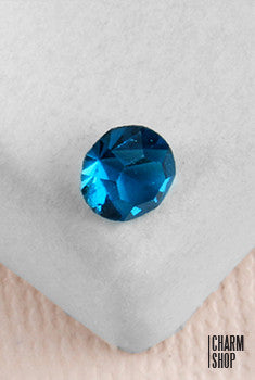 Blue Topaz Gem Stone Locket Charm (2 Stones)