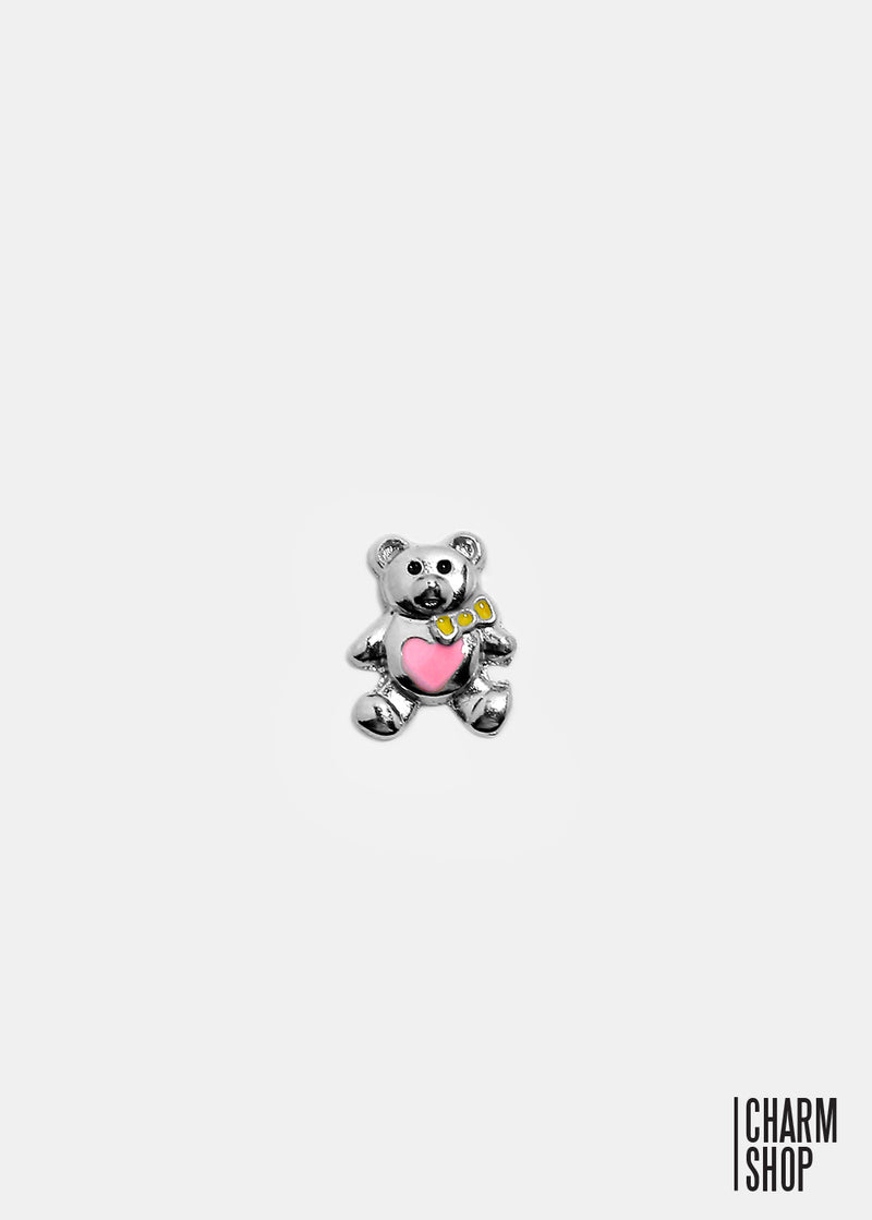 Teddy Bear Locket Charm