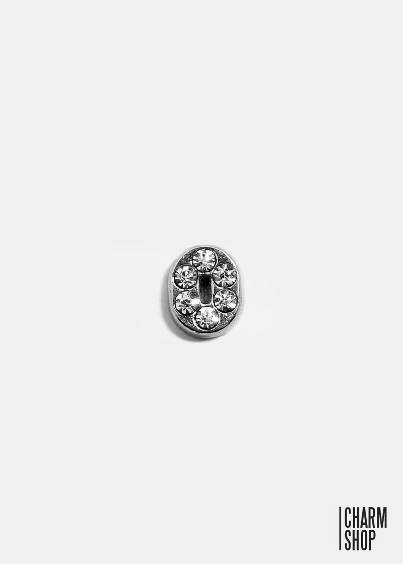 Silver Number 0 Locket Charm