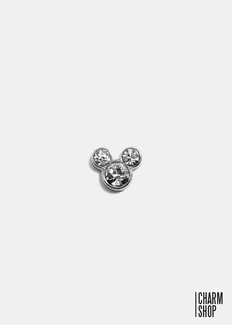 Mouse With Rhinestone Locket Charm