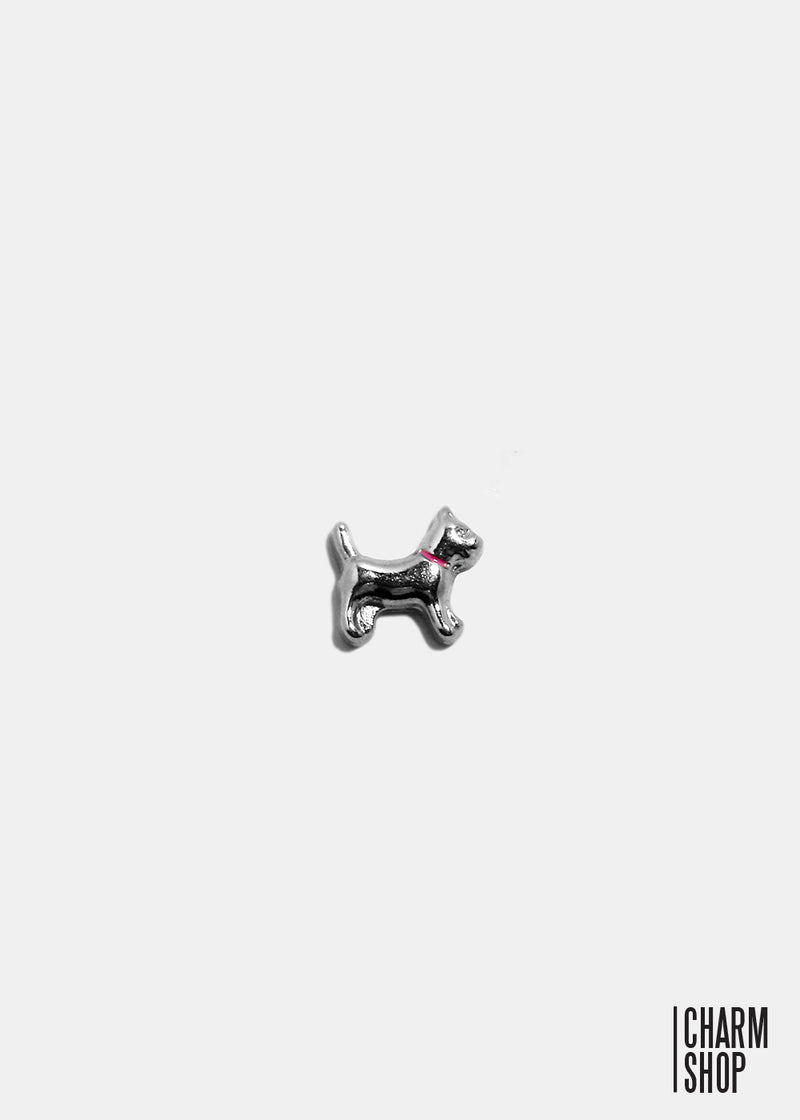 Dog With Pink Collar Locket Charm