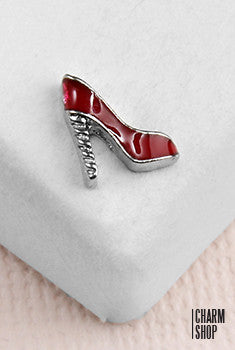 Red Heel Locket Charm