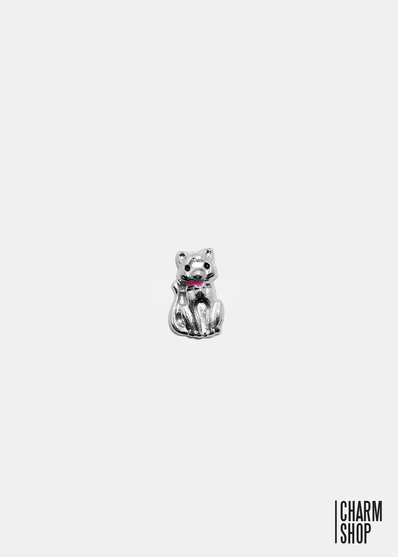 Cat with pink collar locket charm shop miss a