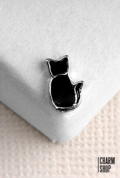 Black Cat Locket Charm