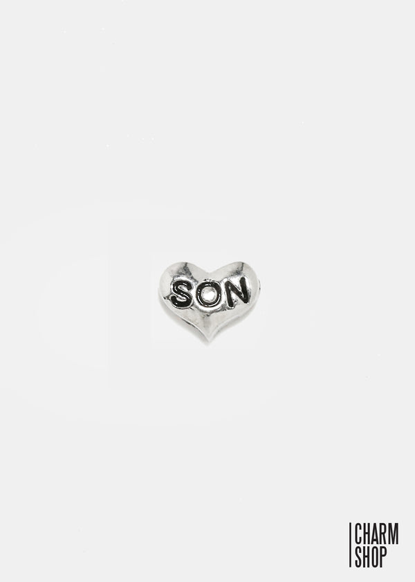 Son Heart Locket Charm