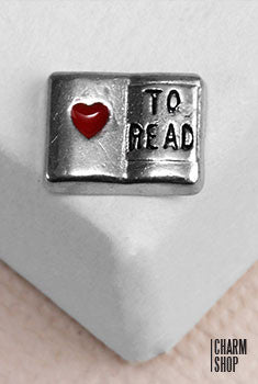 Love To Read Locket Charm