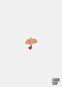 Yellow/Pink Umbrella Locket Charm