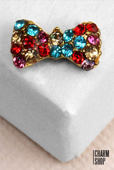 Bedazzling Bow Tie Locket Charm