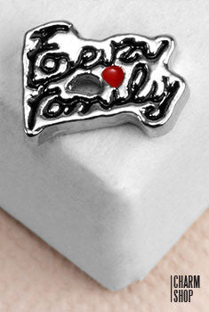 Family Forever Locket Charm
