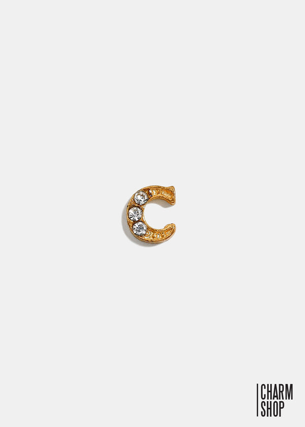 Gold Letter C Locket Charm
