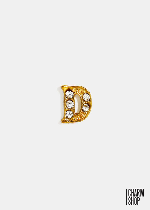 Gold Letter D Locket Charm