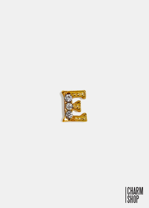 Gold Letter E Locket Charm