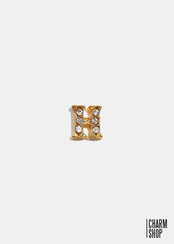 Gold Letter H Locket Charm