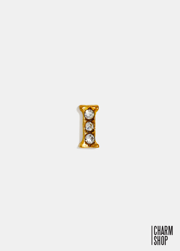 Gold Letter I Locket Charm