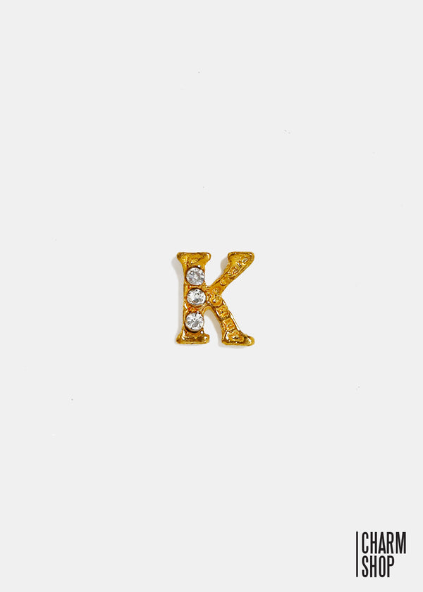 Gold Letter K Locket Charm