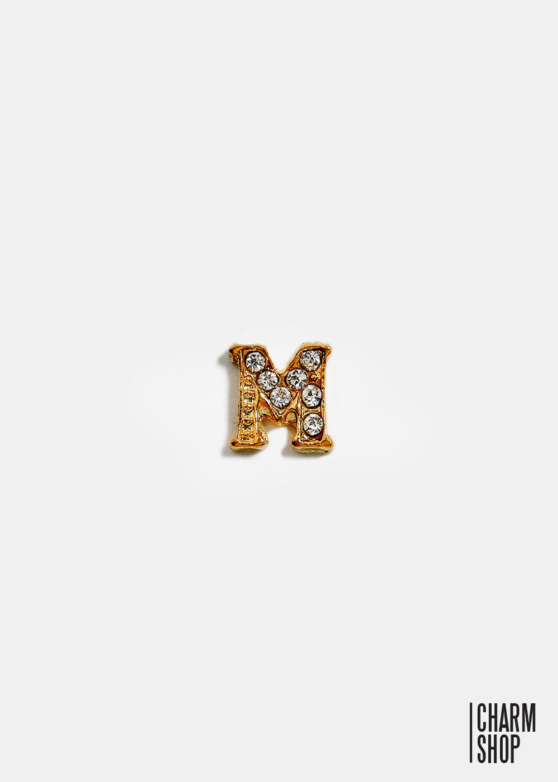 Gold Letter M Locket Charm