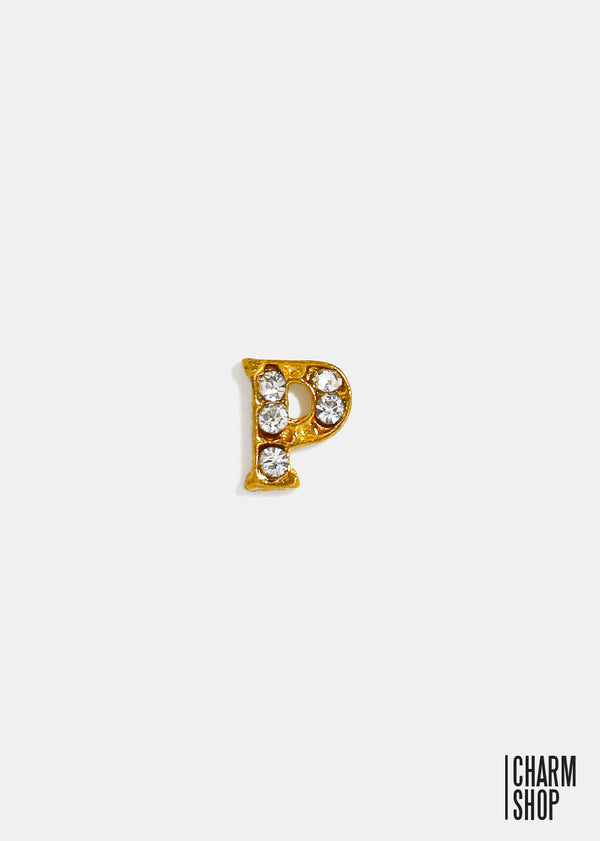 Gold Letter P Locket Charm