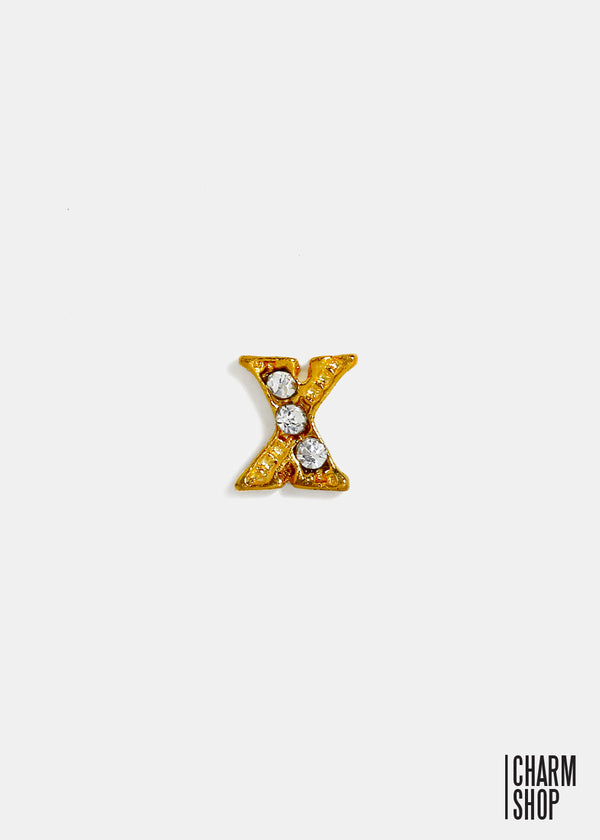 Gold Letter X Locket Charm
