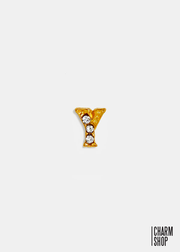 Gold Letter Y Locket Charm