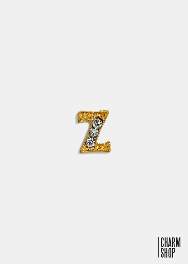Gold Letter Z Locket Charm