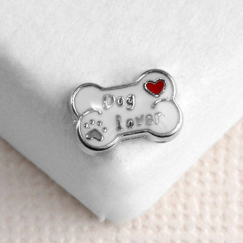 Silver Dog Bone Locket Charm