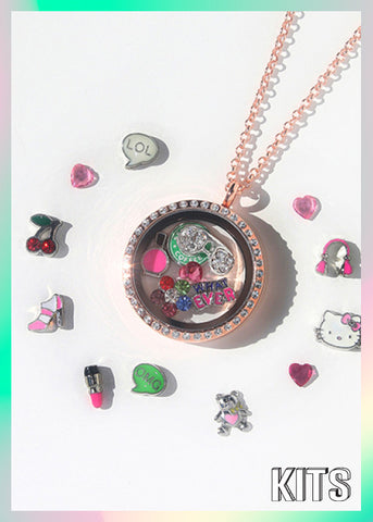Kits: Girly Girl Locket Charm Set