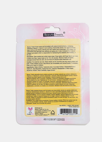 Q10 Facial Sheet Mask