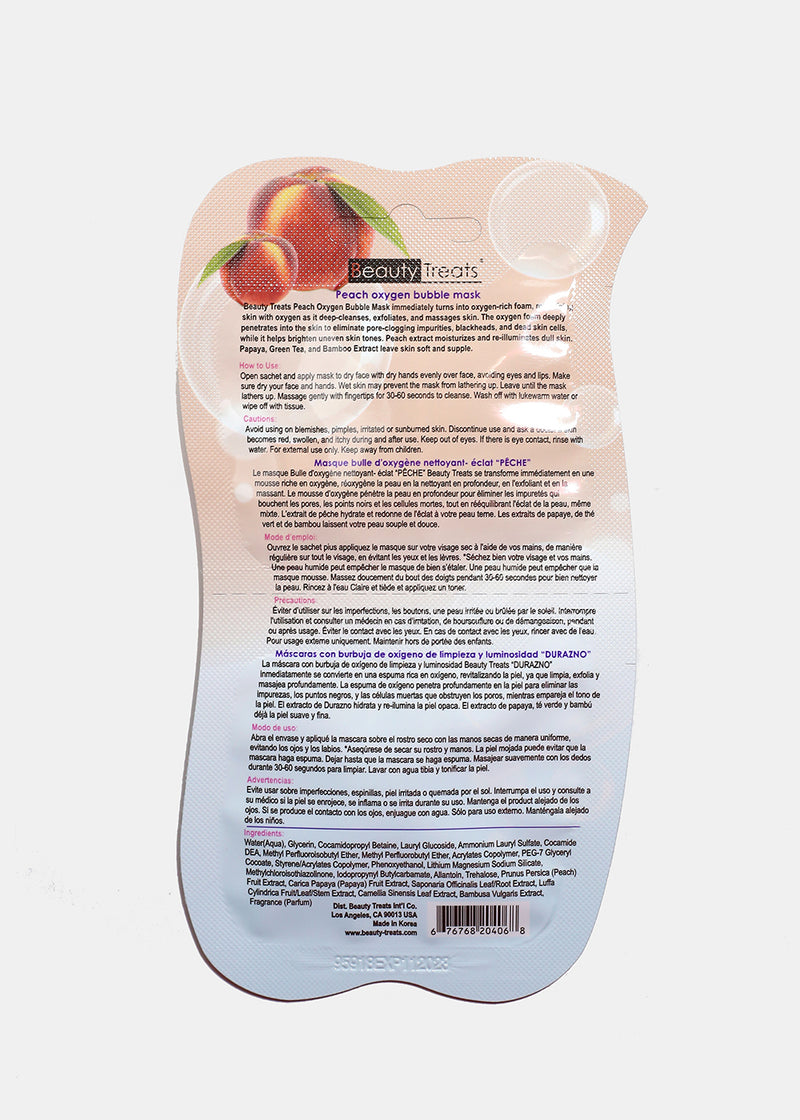 Peach Oxygen Bubble Mask