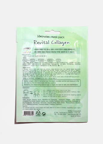 15-Minute Facial Mask - Revital Collagen