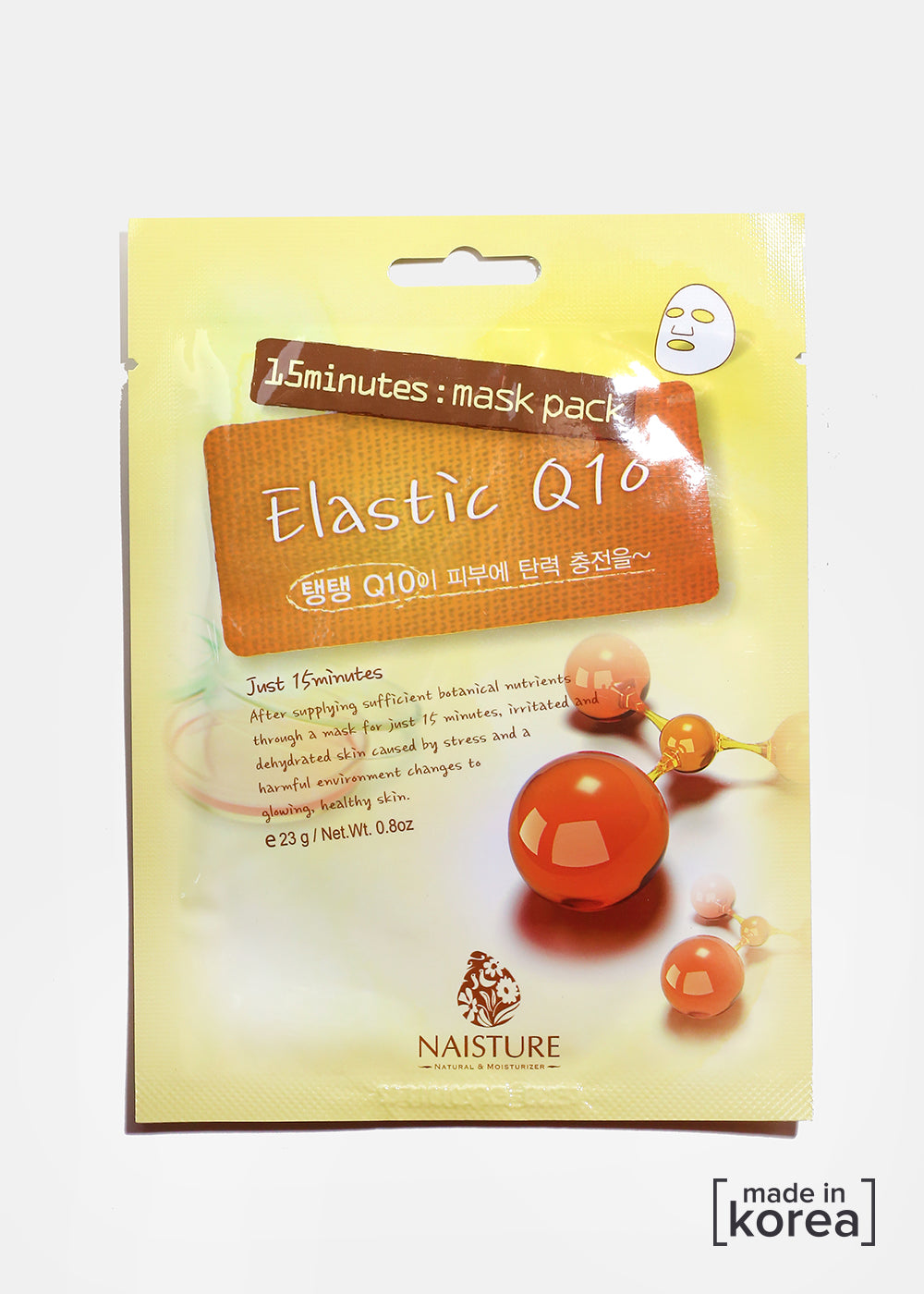 15-Minute Facial Mask - Elastic Q10