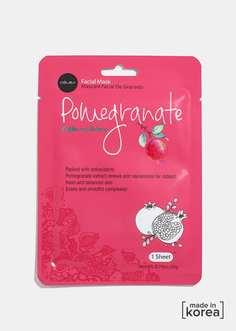 Pomegranate Brighten & Enhance Facial Sheet Mask