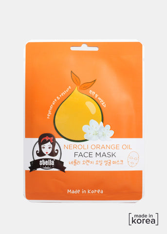 Orange Oil Sheet Face Mask