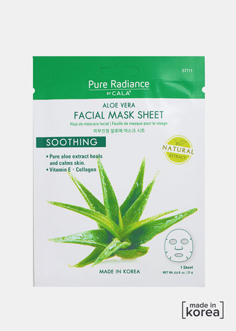 Pure Radiance Sheet Mask- Aloe Vera Facial