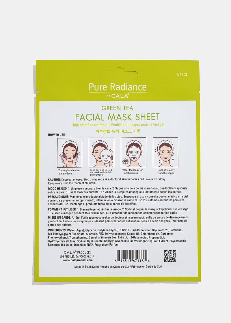 Pure Radiance Sheet Mask- Green Tea Facial
